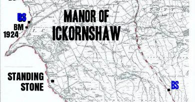 Ickornshaw Manor, border stones and neighbours, by Robin Longbottom and Chris Riley